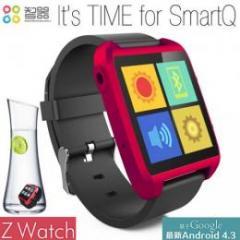 SmartQ Zwatch Androidスマートウォッチ レッド
