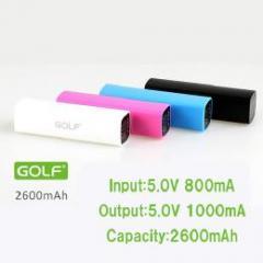 GOLF 2600mA モバイルバッテリー ブラック