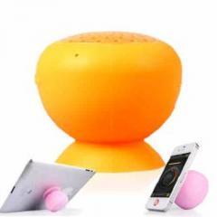 万能Bluetoothスピーカー、吸盤でどこでもくっつく、ハンズフリー通話も可能! ピンク