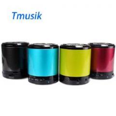 訳あり Tmusik Bluetoothスピーカー カラー色々 iPhone5、アンドロイドなどスマートフォンでの利用が便利! レッド