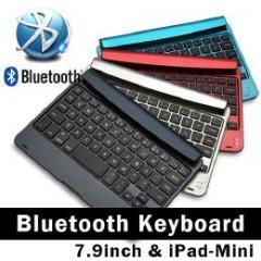 7.9インチ、iPad mini、Androidタブレットに最適、差し込み型Bluetoothキーボード レッド