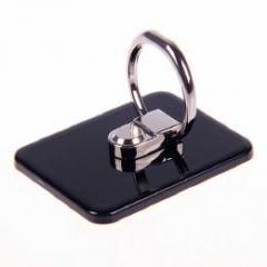 iPhone/スマートフォン/タブレット用 粘着式リングホルダー バンカーリング ブラック