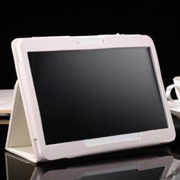 10.1インチ TABi108専用高品質レザーカバーケース ホワイト