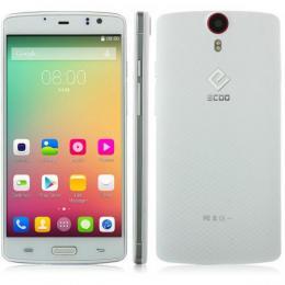 ECOO E04 Plus 3GB RAM スマートフォン 4G LTE 64bit MTK6752(オクタコア)5.5インチ FHD ホワイト