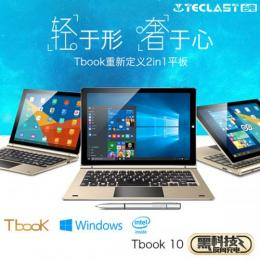 Teclast Tbook10 DualOS 64GB 4GRAM Cherry Trail X5-Z8300 BT搭載