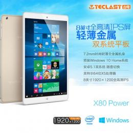Teclast X80 Power DualOS 32GB 2GRAM Intel Z8300 BT搭載 シルバー