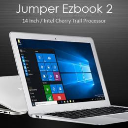 Jumper Ezbook 2 Ultrabook Laptop 64GB 2GRAM 14インチ Cherry Trail X5-Z8300 BT搭載