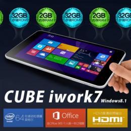 CUBE iwork7 2Gモデル intel Z3735F(クアッドコア) 32GB IPS液晶 BT搭載 Windows8.1