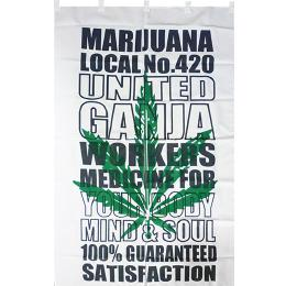 JAPANESE MARIJUANA TAPESTRY のれん