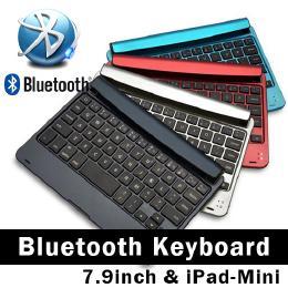 7.9インチ、iPad mini、Androidタブレットに最適、差し込み型Bluetoothキーボード ネイビー