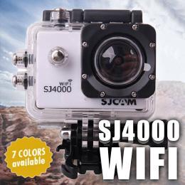 SJCAM SJ4000 WIFIモデル  ホワイト GOPROにも負けない防水アクションカメラ ドライブレコーダー カーマウント、バイクマウント込 海やスポーツ、自転車に!