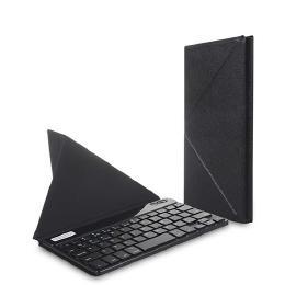 7〜8.1インチ対応 スタンドにもなるケース付きBluetoothキーボード ブラック
