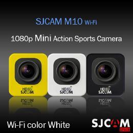 SJCAM M10 Wi-Fiモデル アクション スポーツカメラ GOPROにも負けない HD出力対応 ホワイト 【ドライブレコーダー機能 防水カメラ 自転車 動画】