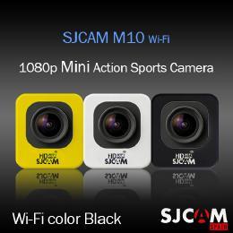 SJCAM M10 Wi-Fiモデル アクション スポーツカメラ GOPROにも負けない HD出力対応 ブラック 【ドライブレコーダー機能 防水カメラ 自転車 動画】