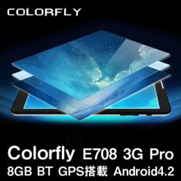 Colorfly E708 3G Pro 8GB BT GPS搭載 Android4.4